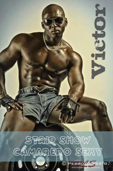Stripper negro en Barcelona Víctor